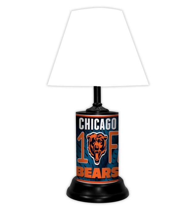 CHI BEARS LAMP-WT