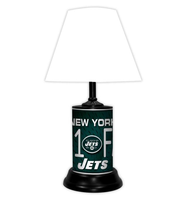 NY JETS LAMP-WT