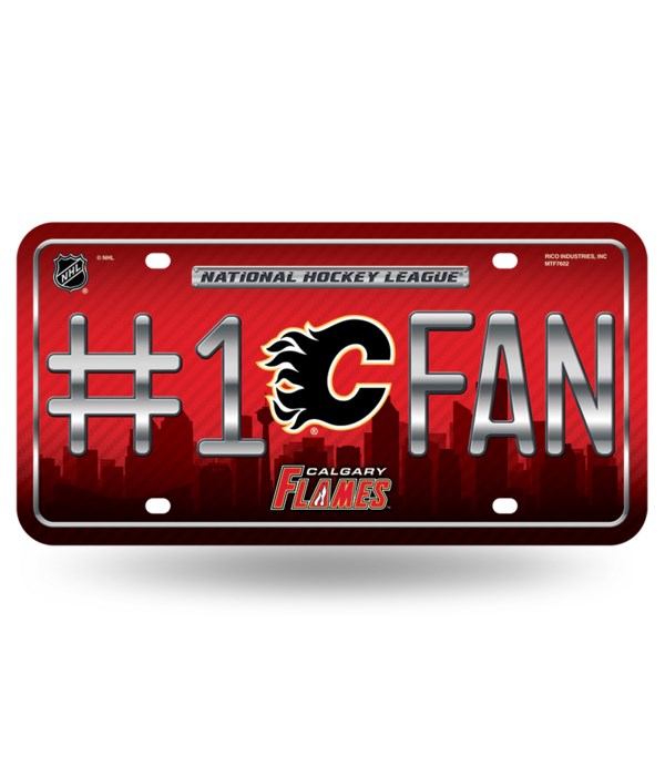 CAL FLAMES LICENSE PLATE