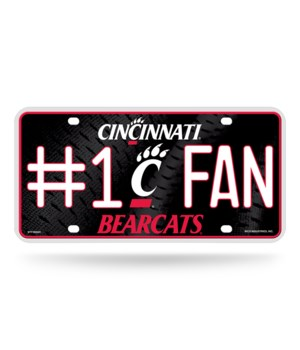 CINCINATI BEARCATS LICENSE PLATE