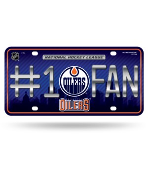 EDMONTON OILERS LICENSE PLATE