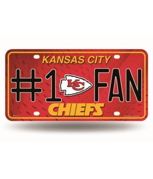 KC CHIEFS LICENSE PLATE