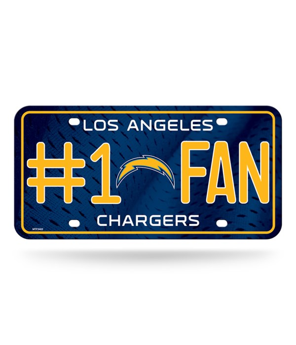 LA CHARGERS LICENSE PLATE