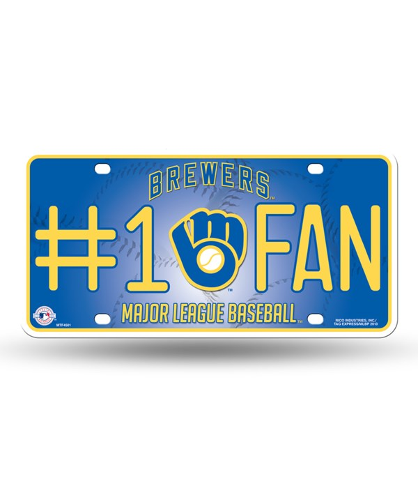 MIL BREWERS LICENSE PLATE