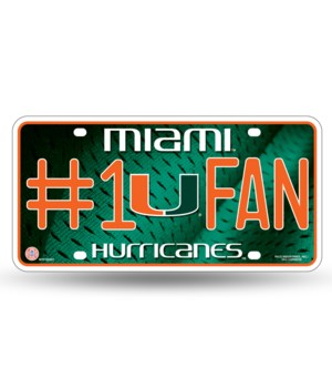 MIA HURRICANES LICENSE PLATE