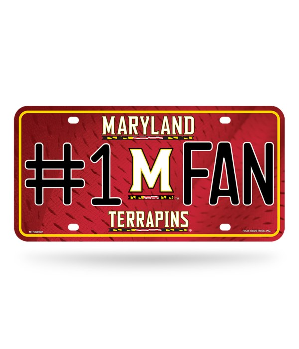 MD TERRAPINS LICENSE PLATE