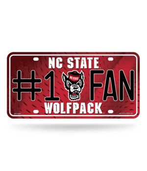 NC ST WOLFPACK LICENSE PLATE