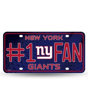 NY GIANTS LICENSE PLATE
