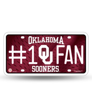 OK SOONERS LICENSE PLATE