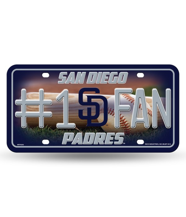 SD PADRES LICENSE PLATE