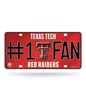 TEXAS TECH LICENSE PLATE