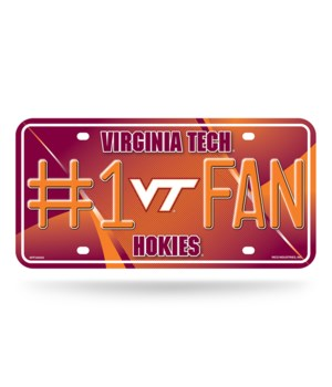 VA TECH LICENSE PLATE