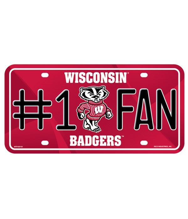 WI BADGERS LICENSE PLATE