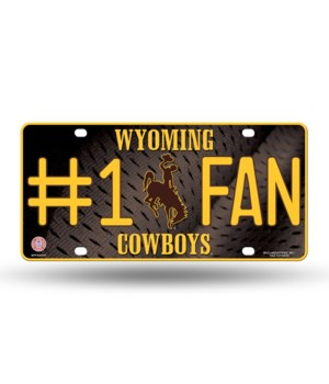 WYOMING COWBOYS LICENSE PLATE