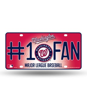 WASH NATIONALS LICENSE PLATE