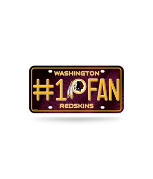 WASH REDSKINS LICENSE PLATE