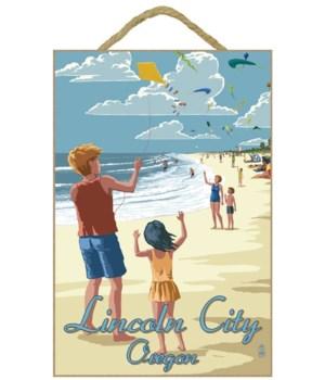 Kite Flyers - Lantern Press 7x10 Poster