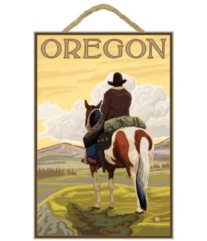 Cowboy on Ridge - Lantern Press 7x10 Pos