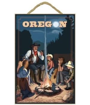 Cowboy Campfire Story Telling - Lantern