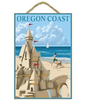 Sand Castle - Lantern Press 7x10 Poster