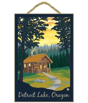 Cabin in the Woods - Lantern Press 7x10