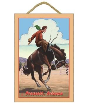 "Cowboy & Bronco Scene - LP Poster ""Presc"