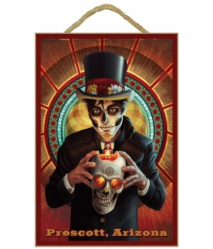 Day of the Dead - Skeleton holding Sugar