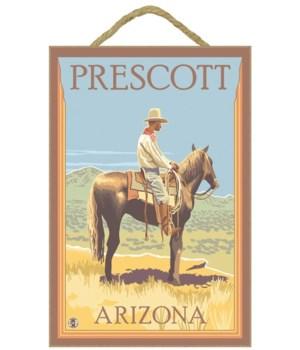 "Cowboy (side view) - LP Poster ""Prescott"
