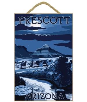 """Wolves & Full moon - LP Poster """"Prescott"""