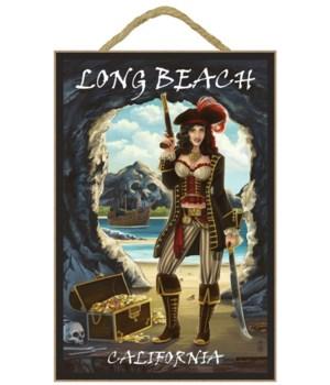 "Woman Pirate pin up ""Long Beach, Califor"