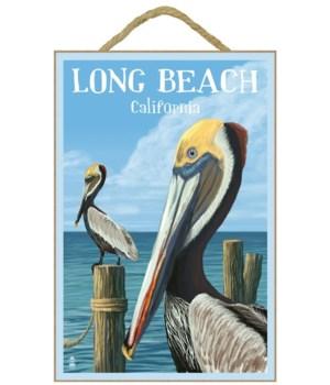 "Pelicans ""Long Beach, California"""