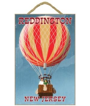 """Couple in Hot Air Balloons """"Reddington,"""