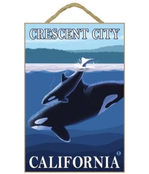 """Orca and Calf (Hills) """"Crescent City, Ca"""