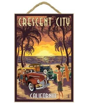 "Woodies on the Beach - ""Crescent City, C"