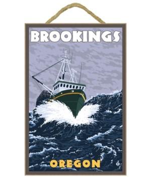 "Crab Fishing Boat Scene - ""Brookings, Or"