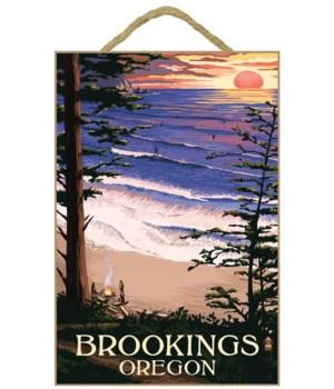 """Sunset & Surfers """"Brookings, Oregon"""""""