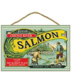 Fresh Chetco River Salmon packed by the