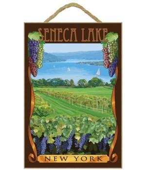 "Seneca Lake, New York"" - Vineyard Scene"