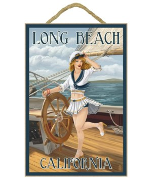 """Long Beach California"""" - Pinup Girl Sail"""
