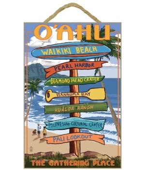 Waikiki Beach, Oahu, Hawaii - Sign Desti