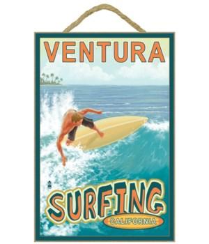 Surfer (Tropical) - Lantern Press 7x10 P