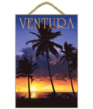 """Palm trees and sunset - LP Poster """"Ventu"""