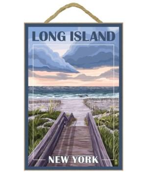 """Beach Boardwalk Scene - LP Poster """"Long"""