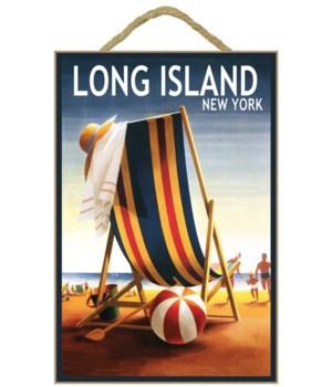Long Island, NY -  Beach Chair and Ball