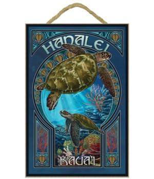 Hanalei, Kaua'i - Sea Turtle Art Fuveau