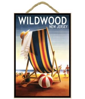 Wildwood, New Jersey - Beach Chair and B
