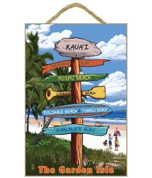 Kaua'i (custom - 2. Poipu beach) - Sign