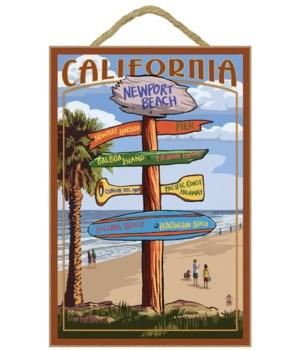 Newport Beach Destinations Sign (custom