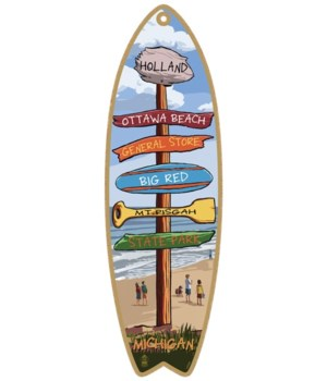 Holland, MI Destination Surfboard 5x16