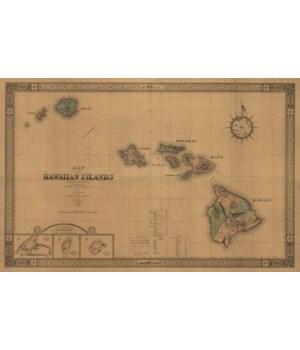 Hawaiian Islands - (1876) - PaFramic Ma